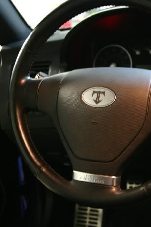 Tiburon Steering Wheel Emblem
